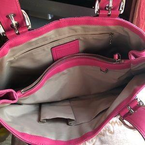 Coach Bags - Large pink tote bag